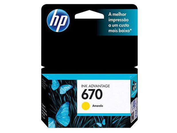 Cartucho de Tinta HP Amarelo 670 - Original