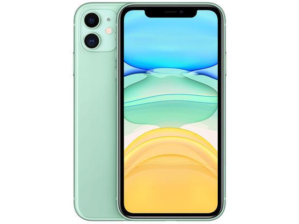 "iPhone 11 Apple 128GB Verde 4G Tela 6,1"" Retina - Câmera Dupla 12MP + Selfie 12MP iOS 13"