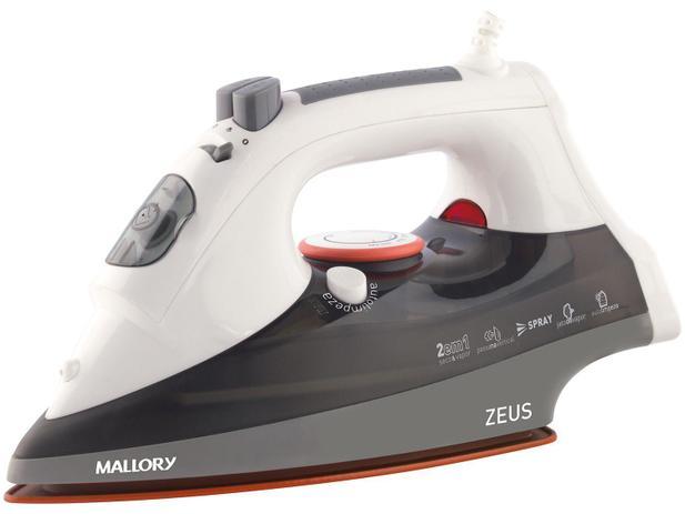 Ferro de Passar a Vapor e a Seco Mallory - Zeus Ceramic Branco - 110V
