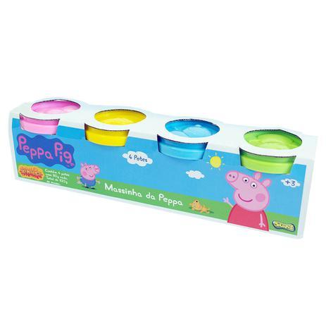 Massinha Peppa Pig com 4 Potes - Sunny -