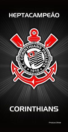 Toalha Aveludada Time de Futebol - Corinthians Buettner - Toalha de ... 61600dc560103