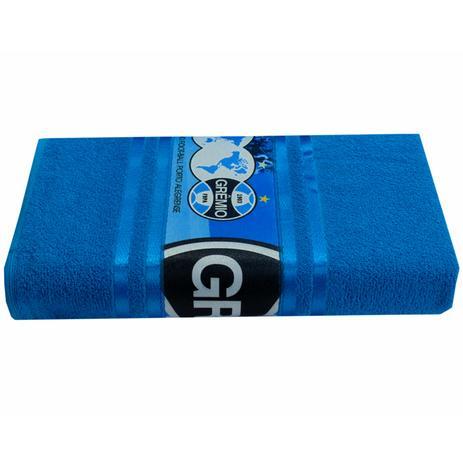8a095dc0b Toalha de Banho Buettner Felpuda Transfer Sublimático Grêmio O Imortal  Tricolor Azul