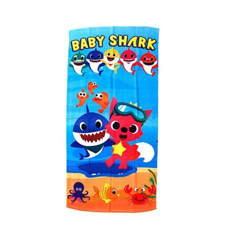 Imagem de Toalha de Banho Felpuda Baby Shark Infantil Personagens