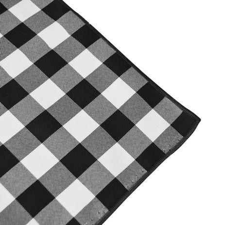 5fc3b21b360e8 Toalha de Mesa Redonda em Tecido Xadrez Preto e Branco 2