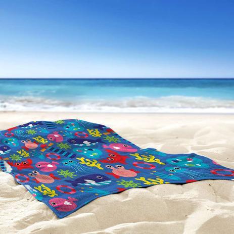066571700 Toalha de Praia   Banho Fundo do Mar - Love decor - Toalha de Praia ...