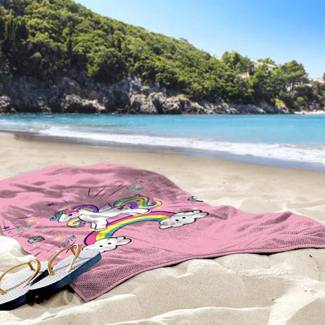 f540645f85 Toalha de Praia   Banho Unicornio - Love decor - Toalha de Banho ...