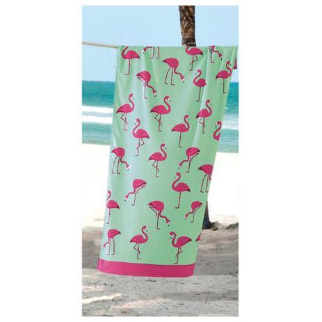 f12eb9330 Toalha de Praia - Multi Flamingos - Aveludada - Dohler - Toalha de ...