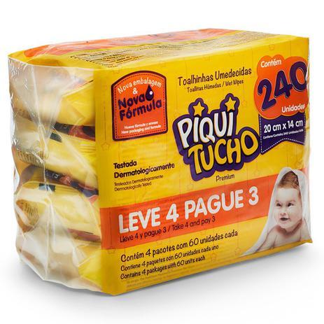 Imagem de Toalha Umedecida Piquitucho Premium Leve 4 Pague 3