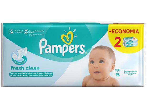 Toalhinhas Umedecidas Pampers Fresh Clean - 96 Unidades