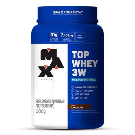 Imagem de Top Whey 3w Mais Performance 900g - Chocolate - Max Titanium