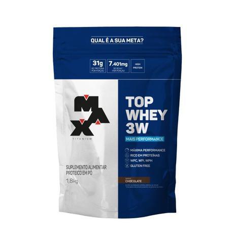 Imagem de Top Whey Protein 3w 1,8kg - Mais Performance - Max Titanium