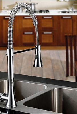 Imagem de Torneira Misturador Monocomando Cozinha Gourmet Extensor e Ducha Regulável Spazzio High 73cm - Premierdecor