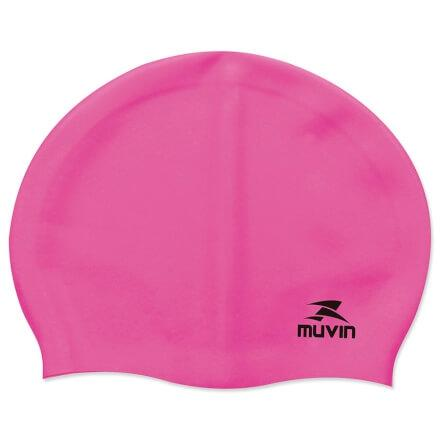 e15022136 Touca de Natação em Silicone Slim - Pink - Muvin TCS-300 - Touca de ...