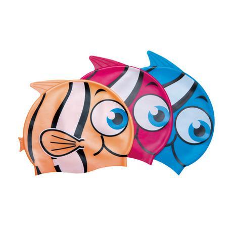 48a4a619d2bbd Touca de natação infantil de silicone cores sortidas com 12 unidades - Bel  Lazer