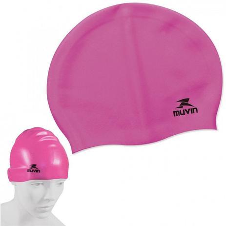 Touca para Natacao e Hidroginastica em Silicone Slim Pink muvin ... 1d9794674da6b