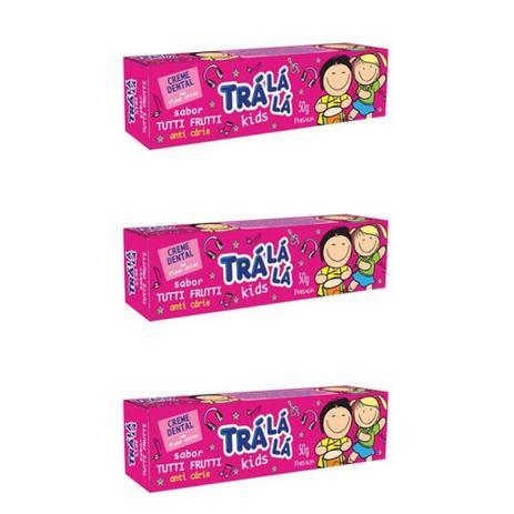 Imagem de Tralálá Kids Creme Dental Tutti Frutti 50g (Kit C/03)