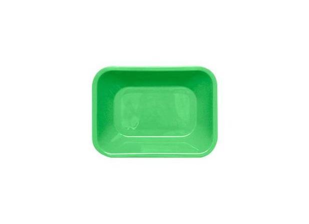 Imagem de Travessa Plástica Retangular Verde Limão Supercron - SUP 032