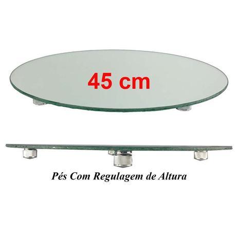 Imagem de Travessa Redonda Espelhada Boleira Doces e Festa 45cm - VEG