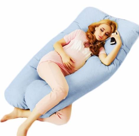 Imagem de Travesseiro De Corpo para Gestante Azul Bebê