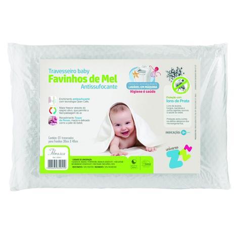 Imagem de Travesseiro Favinhos de Mel Bebê Antissufocante Fibrasca