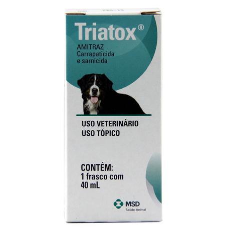 Imagem de Triatox Pet 40ml MSD Sarnicida e Carrapaticida Cães