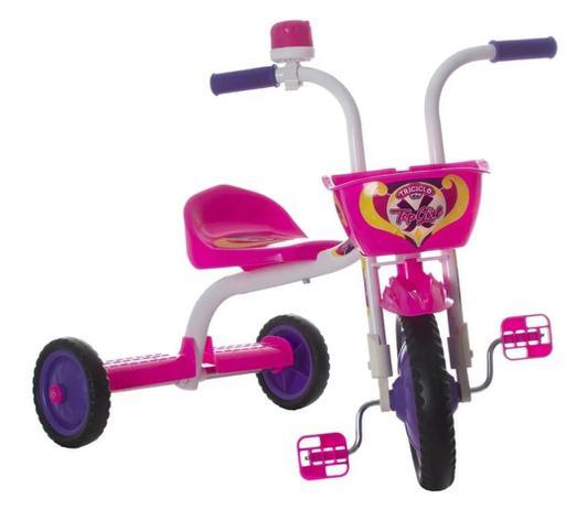 Imagem de Triciclo 3 Rodas Bicicleta Infantil Menina Ultra Bike Rosa