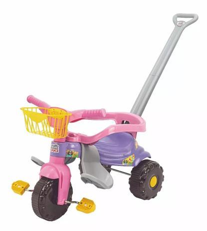 Imagem de Triciclo festa rosa c/ aro protetor