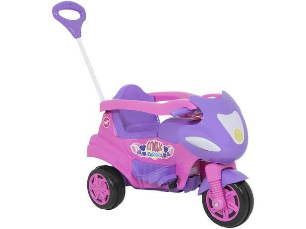 cb3d86e142a1d5 Triciclo Infantil Calesita com Empurrador Max - Buzina Porta Objetos ...