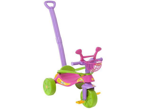 Triciclo Infantil com Empurrador Biemme - Smile Confort com Retrovisor e Cestinha