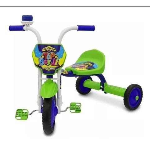 Imagem de Triciclo Infantil Ultra Bike Top Girl Azul Com Verde