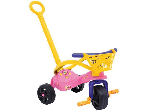Triciclo Infantil Xalingo com Empurrador Pet - Fofinha