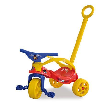 Imagem de Triciclo Mickey Com Empurrador Xalingo