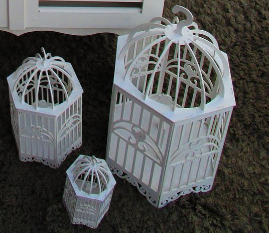 Imagem de Trio de gaiolas decorativas em MDF