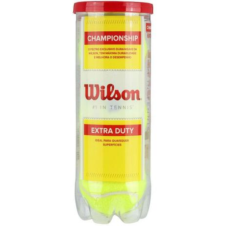 e1f6fc174 Tubo de Bola de Tênis Wilson Championship contendo 3 unidades - Amarelo