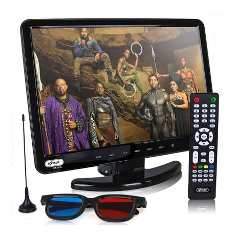 Imagem de Tv Digital Monitor 3D 15,4'' DVD USB/SD KP-D116 Knup
