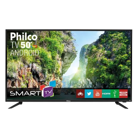 "23d5702f3 TV Philco Led Android 50"" PH50A17DSGWA - Smart TV - Magazine Luiza"