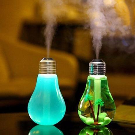 Imagem de Umidificador De Ar Em Formato De Lâmpada Ilumina 7 Cores