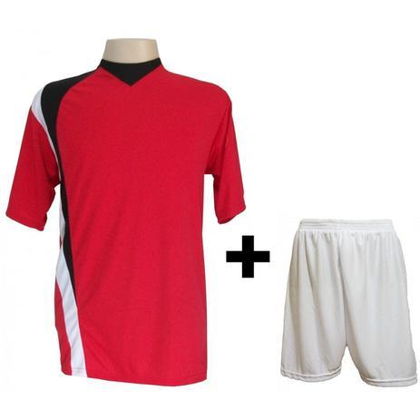 295d98388b Uniforme Esportivo com 14 camisas modelo PSG Vermelho Preto Branco + 14  calções modelo Madrid + 1 Goleiro + Brindes - Gazza
