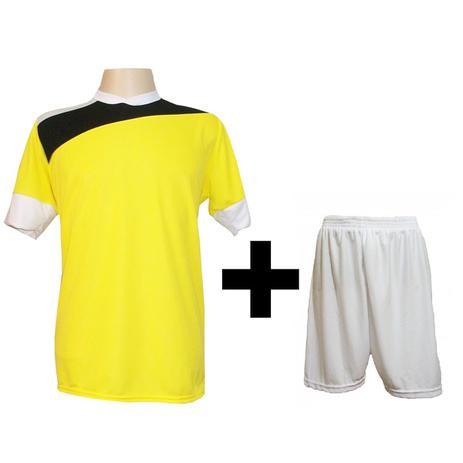 2d817b733c Uniforme Esportivo com 14 camisas modelo Sporting Amarelo Preto Branco + 14  calções modelo Madrid + 1 Goleiro + Brindes - Gazza
