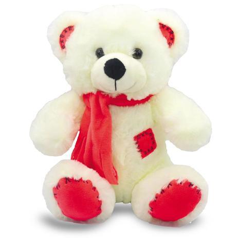 a2d420d66 Urso de Pelúcia com Cachecol 25cm - Vermelho - Unik Toys - Pelúcia ...