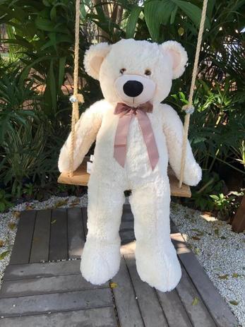 Imagem de Urso de Pelúcia Rafael 1 m Gigante - Marfim Lançamento