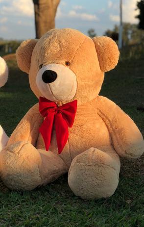 Imagem de Urso Gigante Pelúcia Teddy 1,10 Metros com Laço - Várias Cores - Barros Baby