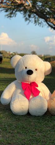 Imagem de Urso Gigante Teddy Pelúcia Branco 110cm