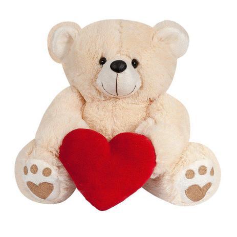 b65ca60e9 Urso Pelúcia Importada Médio Doce de Leite Coração Vermelho - W.u. pelúcias