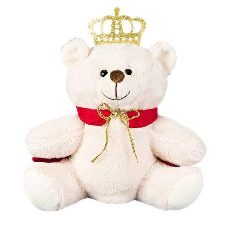 Urso Pelúcia Importada Mini Marfim Rei Coroa Capa - W.u. pelúcias ... 8c2e3c814e450