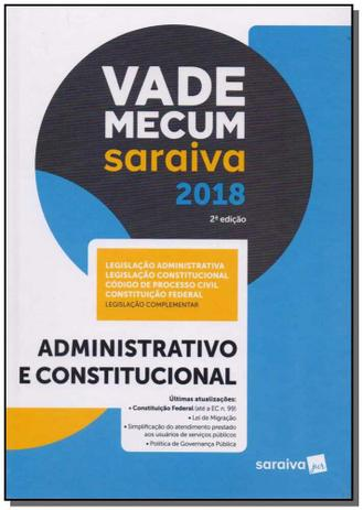 Imagem de Vade Mecum Saraiva 2018 - 02Ed/18