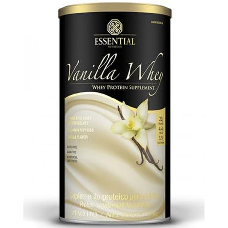 9a7905369 Vanilla Whey Protein Hidrolisado e Isolado em Lata 450g - Essential  nutrition