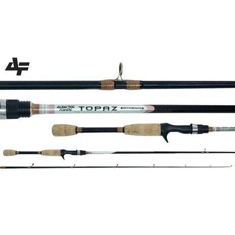 Imagem de Vara para Carretilha Carbono Modelo Topaz 1,52 metros Albatroz Fishing Cabo Cortiça 12 Libras