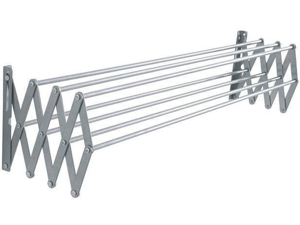 Imagem de Varal aluminio parede sanfonado 100x47