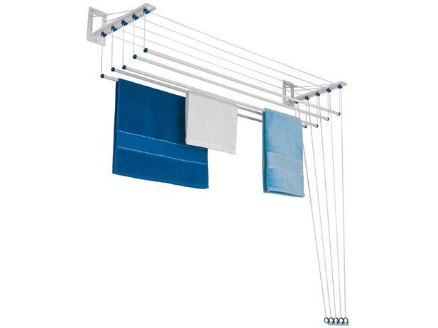Imagem de Varal de Parede Individual Aço 1,2m Master Innovar Maxeb - Branco